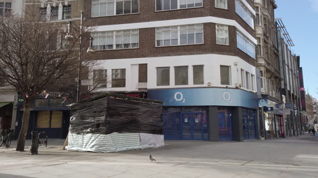 street corner and building exterior in soho, london, u.k., on wednesday, february 10, 2021. - western script stock videos & royalty-free footage