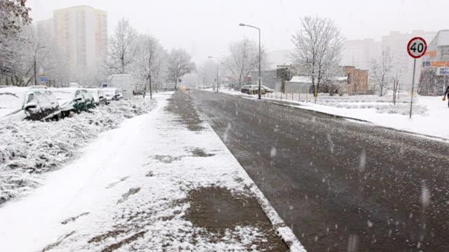 Street zu schneien