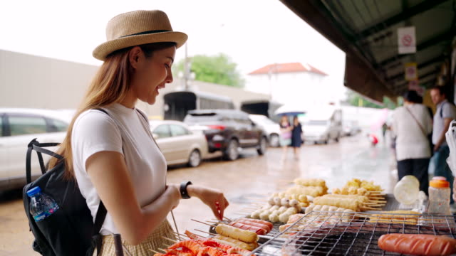 street food at chinatown in thailand - street food stock videos & royalty-free footage