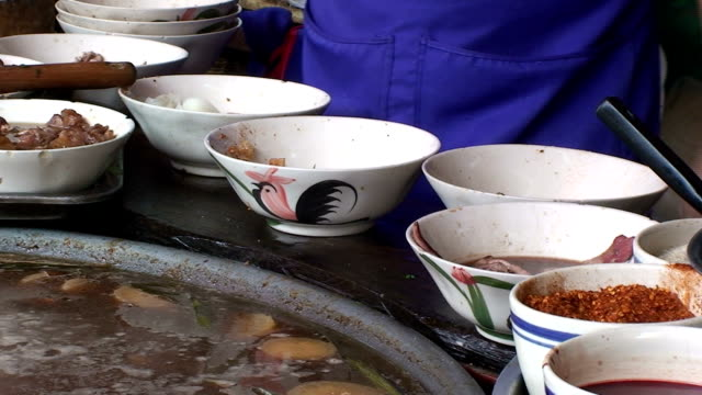 street food - serving utensil stock videos and b-roll footage
