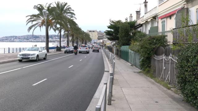 Straßenfront Bucht in Nizza, Frankreich.