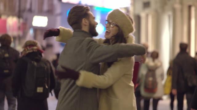 street hello goodbye - nightlife stock videos & royalty-free footage