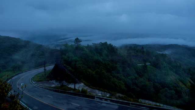 street hill in the fog - appalachian mountains stock videos & royalty-free footage