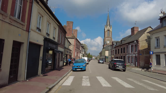 street in a village - french culture stock videos & royalty-free footage