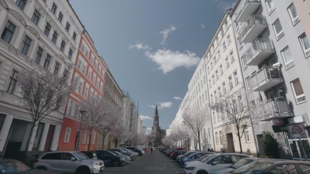 street in berlin during coronavirus covid-19 - strada vuota video stock e b–roll