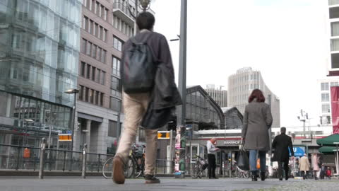 street in berlin during covid-19 pandemic, germany - pedestrian walkway stock videos & royalty-free footage