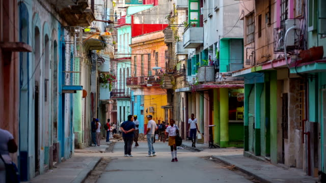 street in centro habana, havana, cuba. - havana stock videos & royalty-free footage