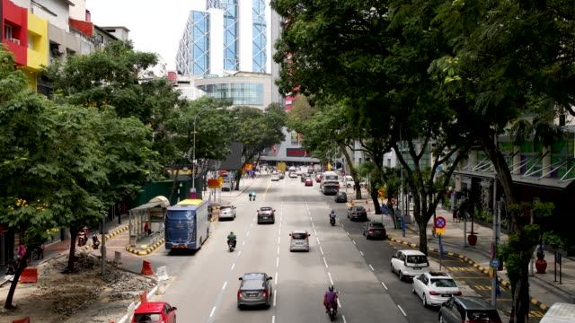street in chow kit market district of kuala lumpur malaysia - malaysian culture stock videos & royalty-free footage