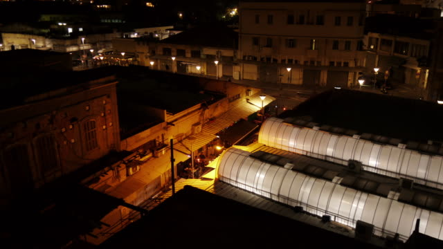 street in jaffa at night from above - time lapse - spoonfilm stock-videos und b-roll-filmmaterial