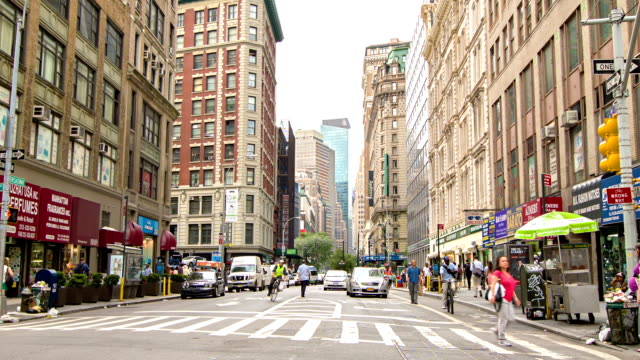street in new york, usa - brooklyn new york stock videos & royalty-free footage