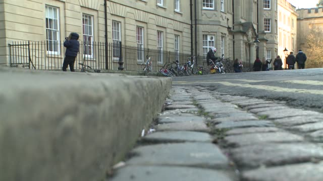 street in oxford - cobblestone stock videos & royalty-free footage
