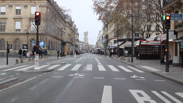 street in Paris, without car
