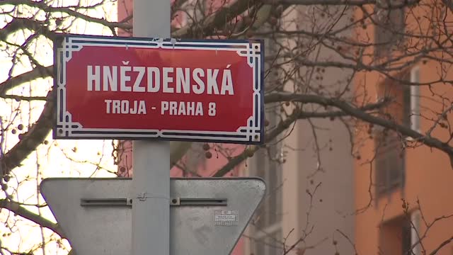 street in prague in czech republic - street name sign stock videos & royalty-free footage