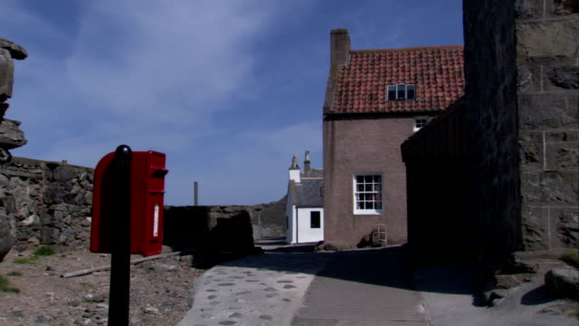 A street in the village of Crovie Aberdeenshire. Available in HD.