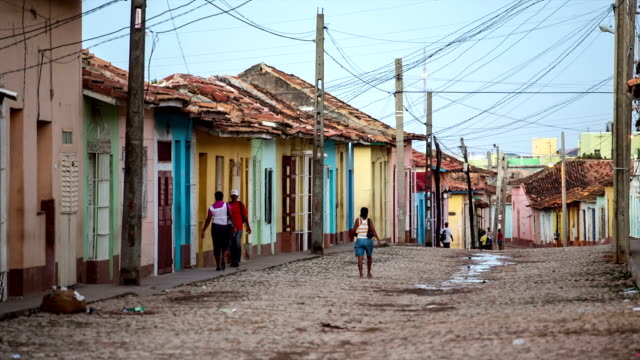 street in trinidad, cuba - developing countries stock videos & royalty-free footage