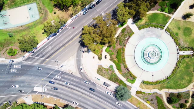 Street Intersection in Los Feliz from Above