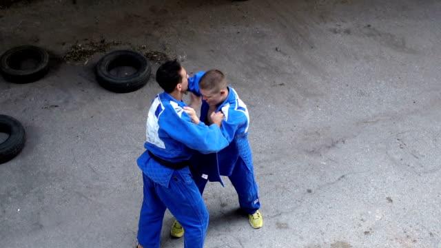 street judo - taekwondo stock videos & royalty-free footage