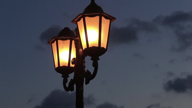 street lamp - electric lamp stock videos & royalty-free footage
