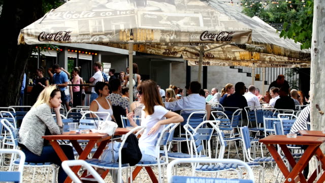 Street life in Budapest - People in Café