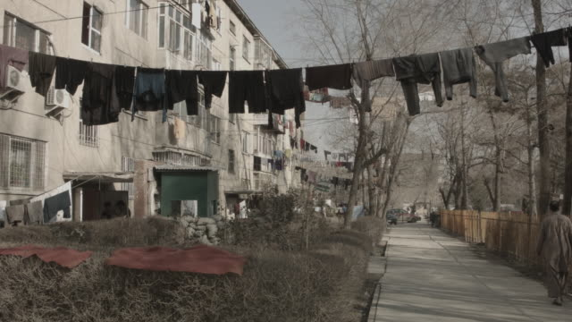 street life kabul - washing line stock videos & royalty-free footage