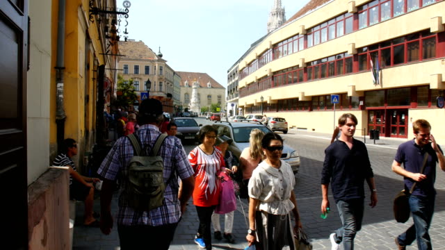 Street life-Tourists in Budapest