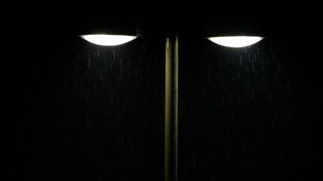Street Light and Rain