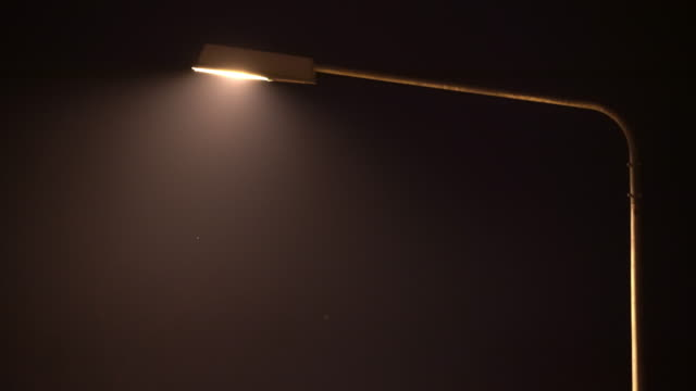 4k street light lamp at night with flying bug - lantern stock videos & royalty-free footage