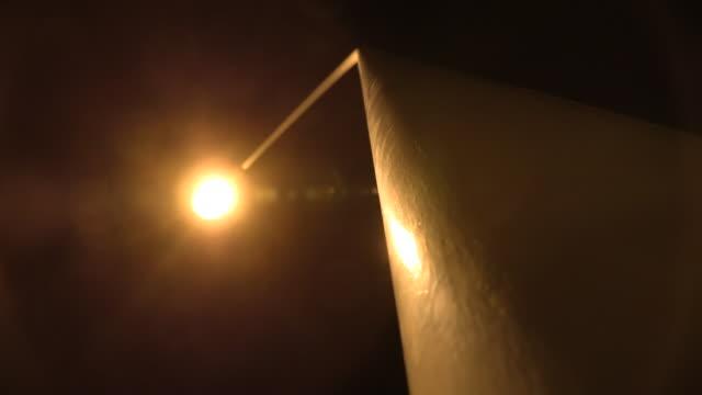 a street light, ogasawara, japan - electric lamp点の映像素材/bロール