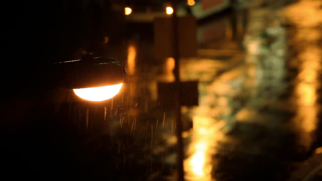 street light rain in new york city - street light stock videos & royalty-free footage
