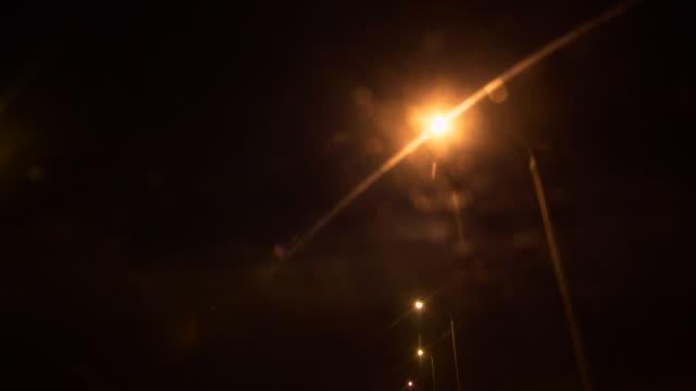 Straatverlichting 's nachts