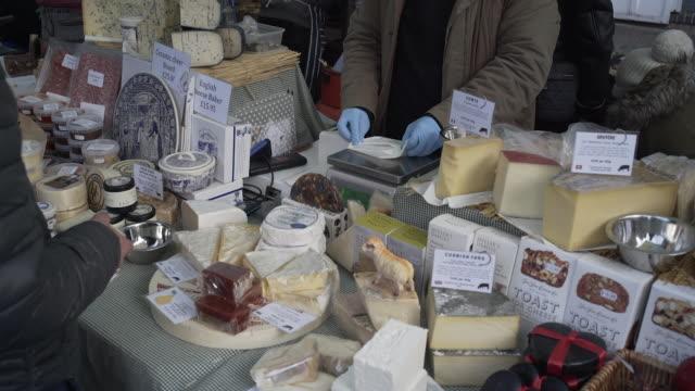 Street Market chesse stall.