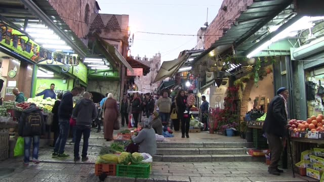 Street market inside the old town next to the Damascus Gate East Jerusalem