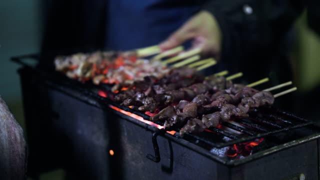 street market  street food thailand - thai food stock videos & royalty-free footage