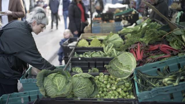 Street Market veg stall.
