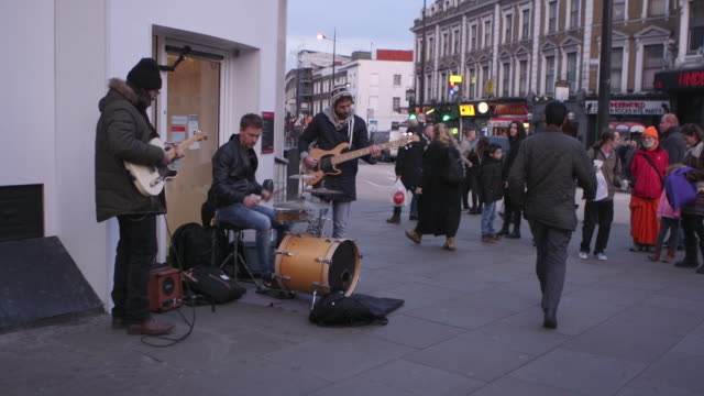 street music baskers - guitar stock videos & royalty-free footage