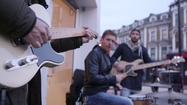 street music baskers - performance group stock videos and b-roll footage