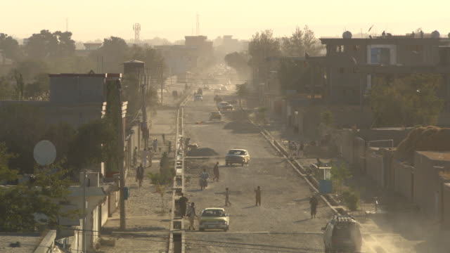street of mazar-e-sharif, afghanistan. - afghanistan stock videos & royalty-free footage