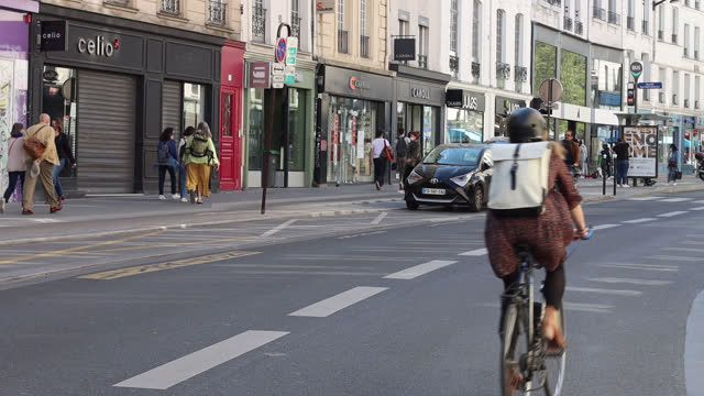 street of paris, in spring without a car - walkable city stock videos & royalty-free footage