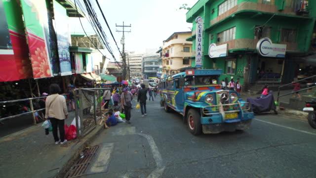street of philippines, baguio - blickwinkel aufnahme stock-videos und b-roll-filmmaterial