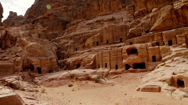 Straße-Gräber in der rock city, Petra/Jordanien