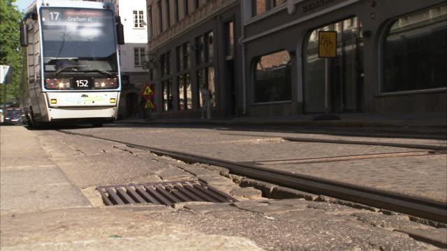 stockvideo's en b-roll-footage met a street, oslo, norway. - openbaar vervoer