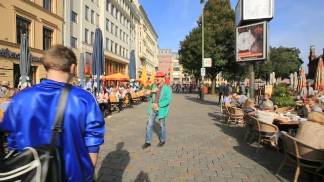 street performer at Hackescher Markt district, Mitte