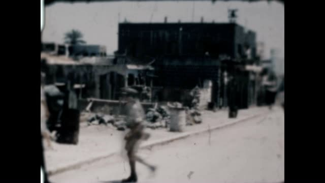 street scene and vendors in jerusalem just after the war of 1948 from an archival home movie - 1948 stock videos & royalty-free footage
