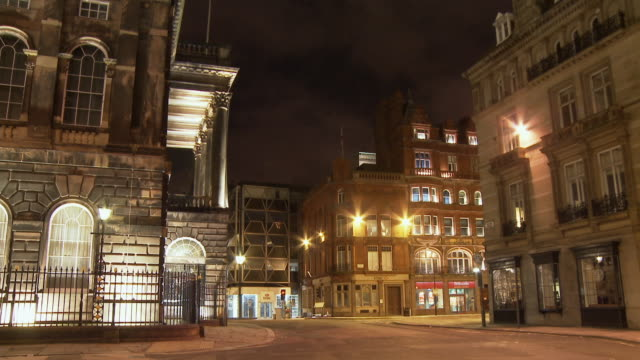 T/L, MS, Street scene at night, Liverpool, England