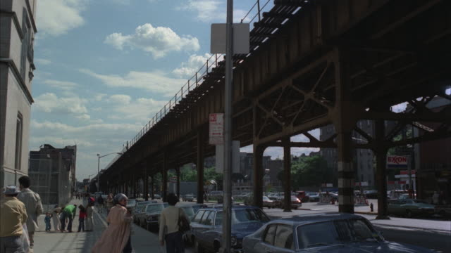 stockvideo's en b-roll-footage met ms, td, street scene, bronx, new york city, new york, usa  - 1977