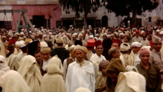 street scene casablanca wwii on may 15, 1945 in casablanca, morocco - religion stock videos & royalty-free footage