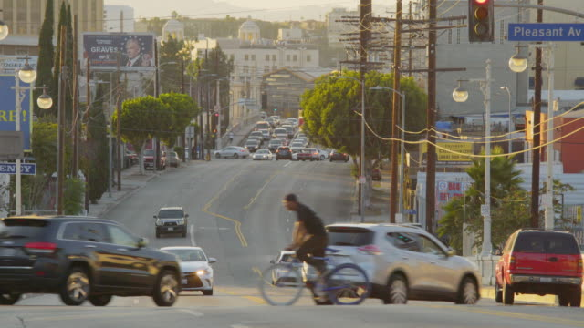 street scene east los angeles - day - city of los angeles stock-videos und b-roll-filmmaterial