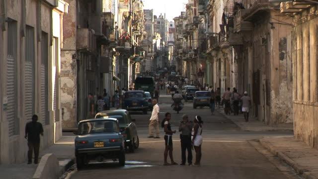 ws street scene, havana, ciudad de la habana, cuba - 2008 stock videos & royalty-free footage