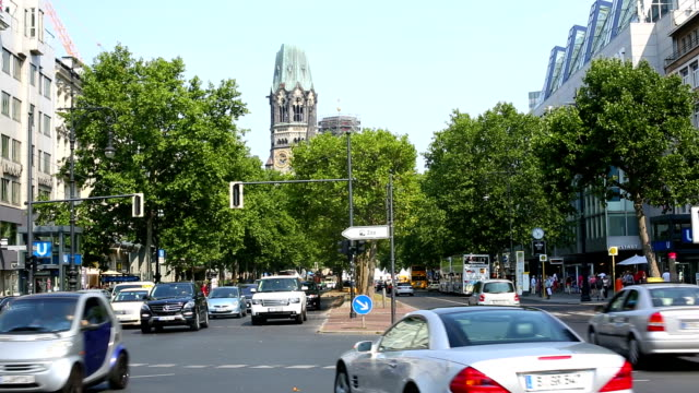 street scene in berlin kurfürstendamm - germany stock videos & royalty-free footage