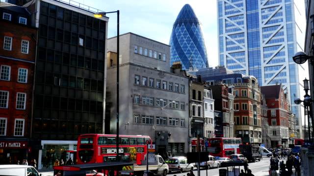 Straße-Szene In London Bishopsgate (4 k UHD zu/HD